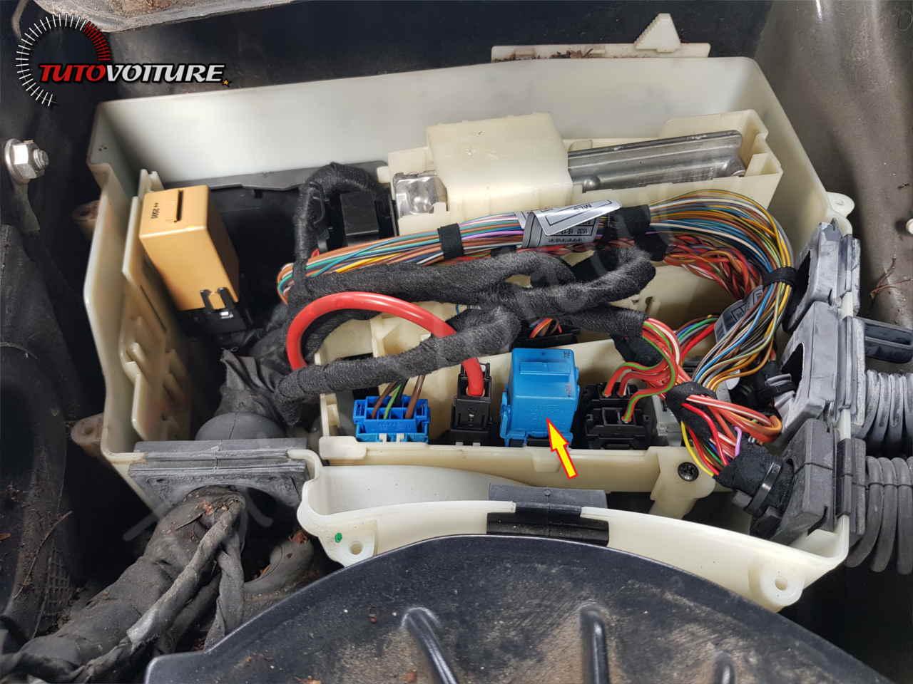 Changer le relais bleu bmw E60